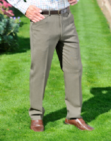 Classic Wool Blend Trouser by Gurteen - Style Denton - 1616 A17